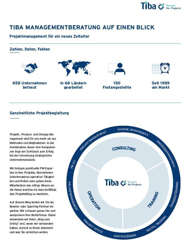 Kurzprofil Tiba Managementberatung